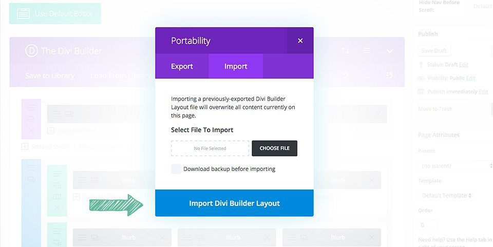 Video: How to Use Divi's Portability Feature to Install a Layout Pack