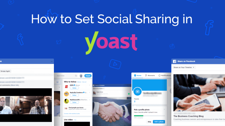 Set Social Sharing in Yoast