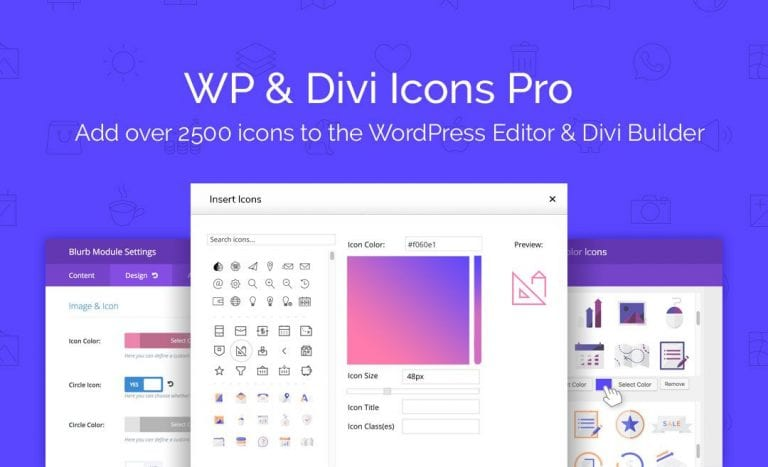WP and Divi Icons PRO Feat Image