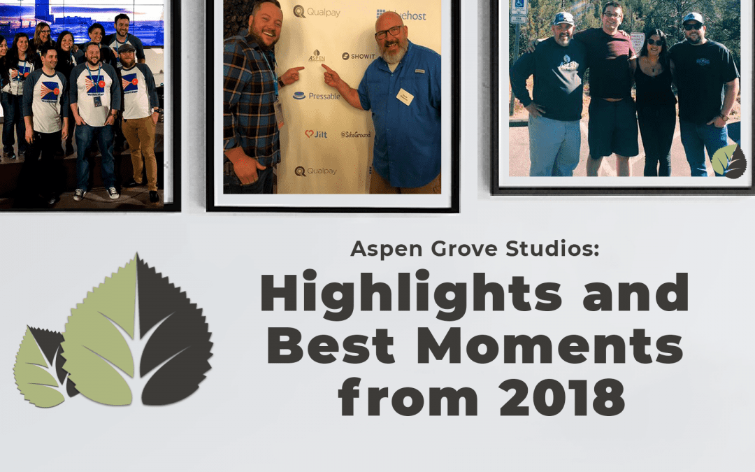 Aspen Grove Studios: Highlights and Best Moments from 2018