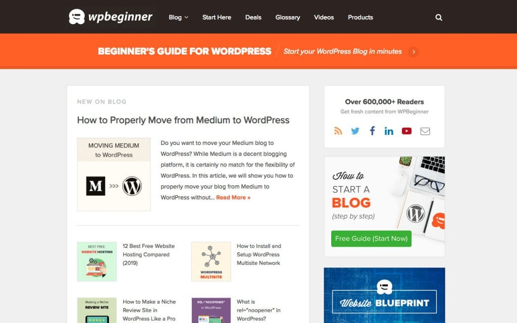 WPBeginner WordPress tutorials