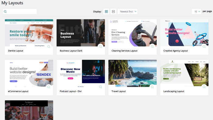 Using WP Layouts with Divi