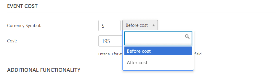Event Cost