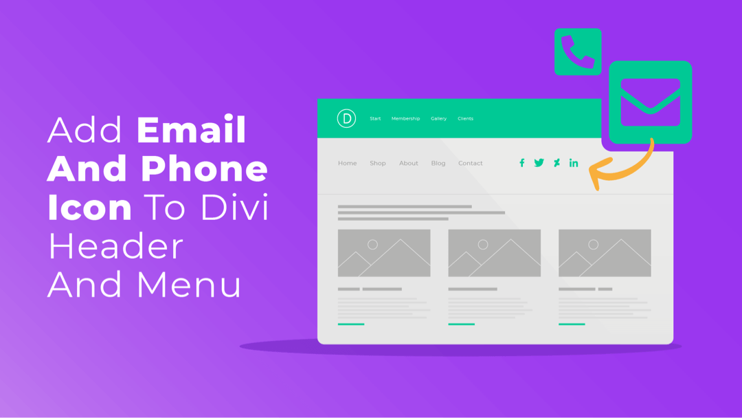 How to add Email and Phone Icon to your Divi Header and Menu