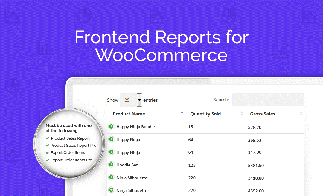 Frontend Reports for WooCommerce