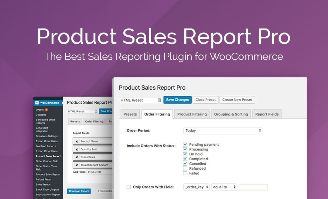 Product Sales Report Pro for WooCommerce